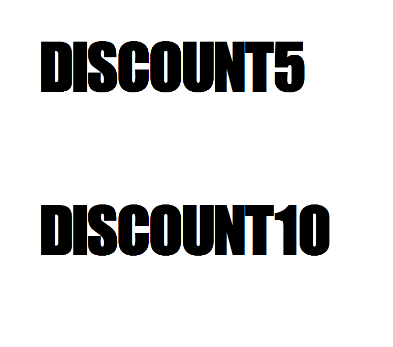 Image of DISCOUNT5 or DISCOUNT10