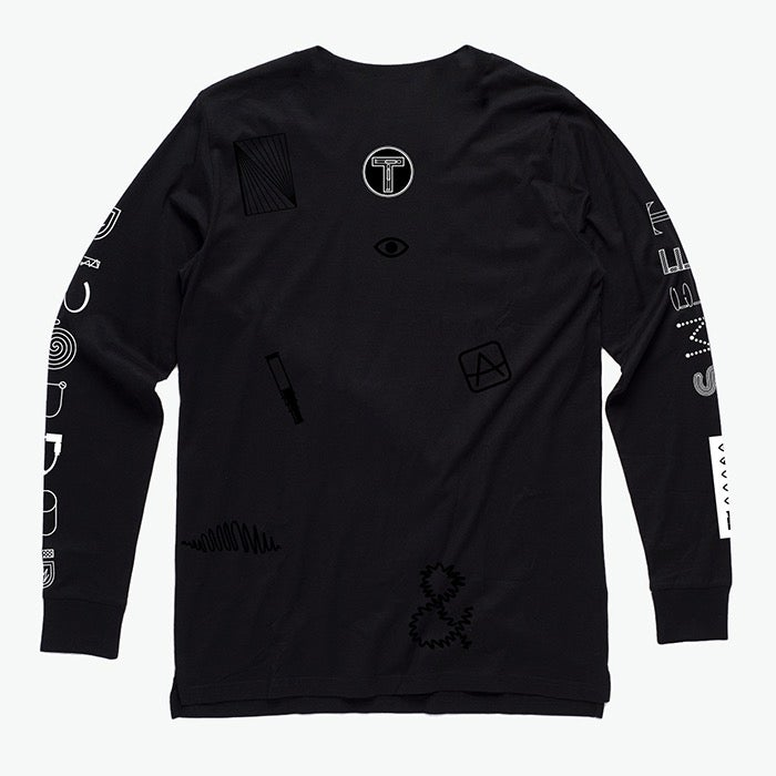 Image of 'Sweet Disorder' Black Long Sleeve Tee