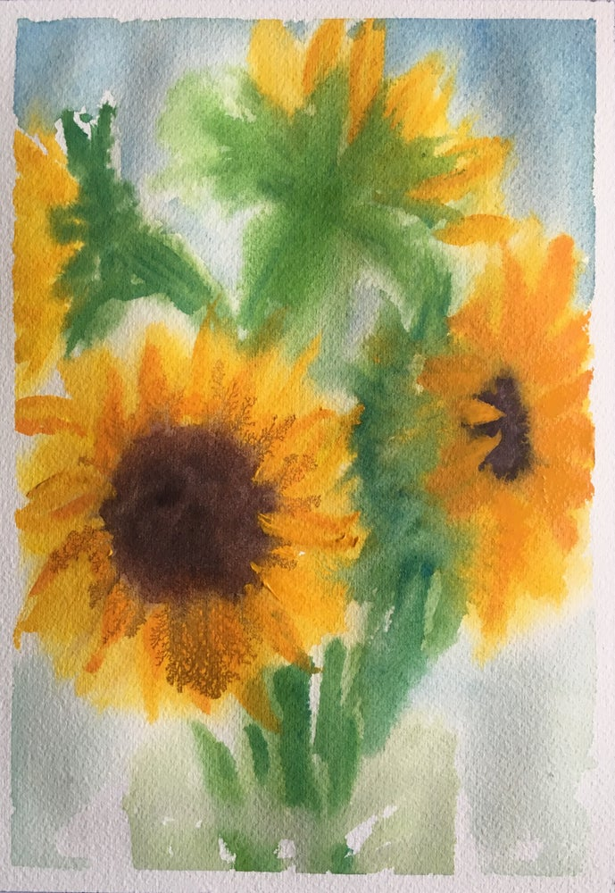Image of Sunflowers in a Vase