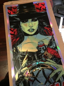 Image of BLINK-182 gigposter - WICKED WITCH - HOLO FOIL VARIANT