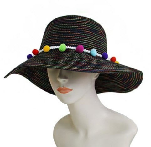 Image of Pom Trimmed Hat