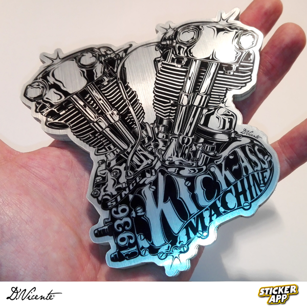 Image of KICK-ASS MACHINE STICKER
