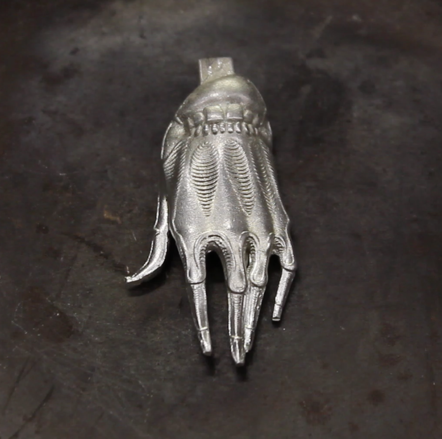 Image of VILLAIN HAND PENDANT (PEWTER)