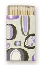 Image of Mod Matches in Purple Pebbles • 100 Bulk Order