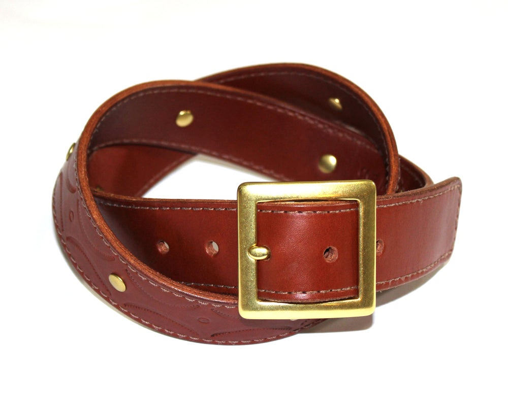 Image of STAMPED BELT - BROWN