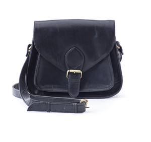 Image of All-leather Satchel (black)
