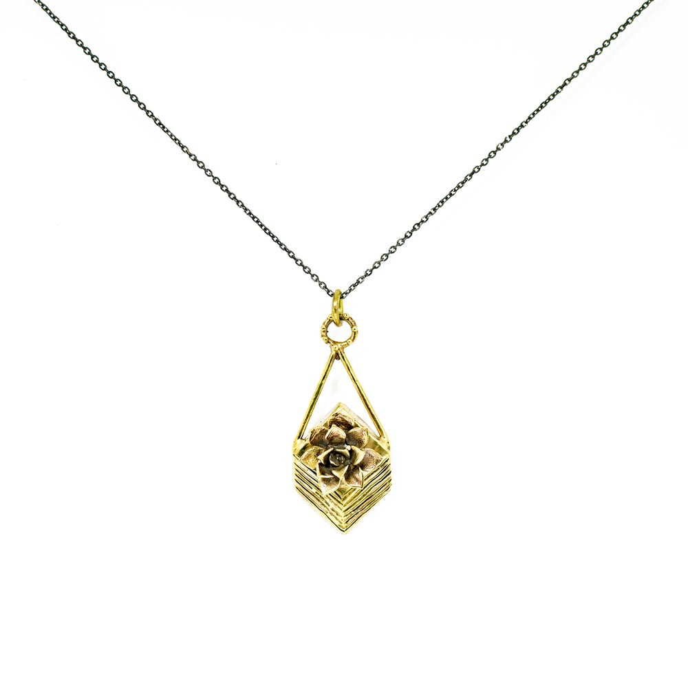 Image of GEOMETRIC SUCCULENT Necklace
