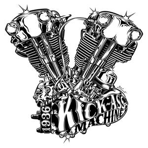 Image of KICK-ASS MACHINE STICKER
