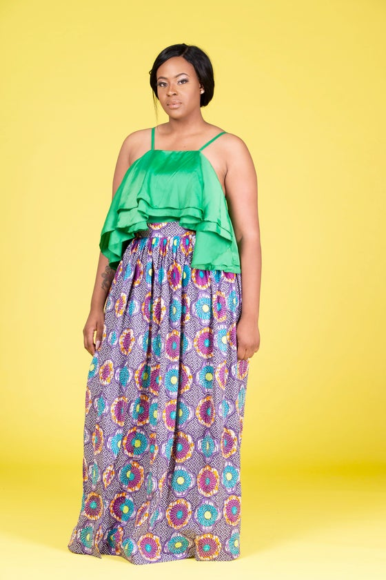 Image of NADIA STONED MAXI SKIRT