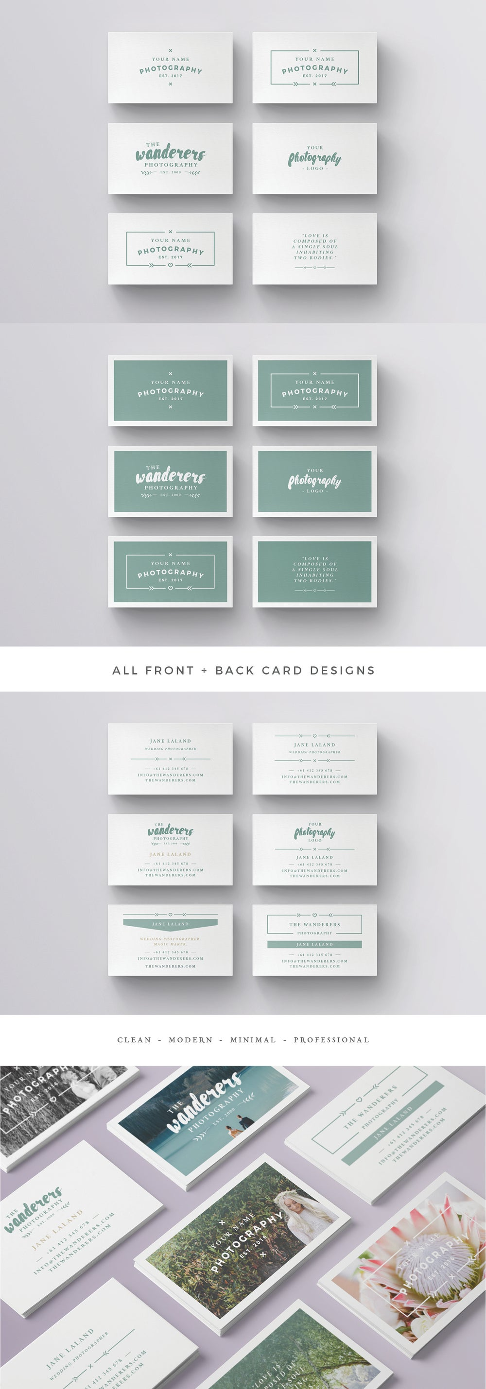 Image of WANDERERS Business Card Template
