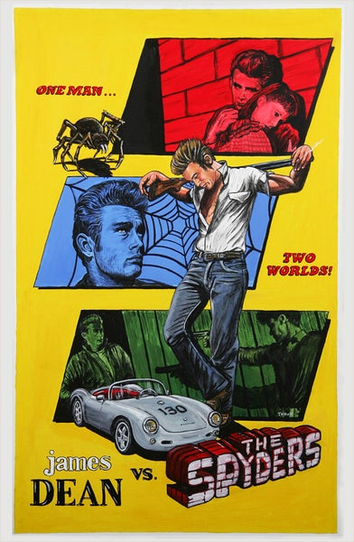 "Image of ""James Dean vs The Spyders"" signed canvas print"
