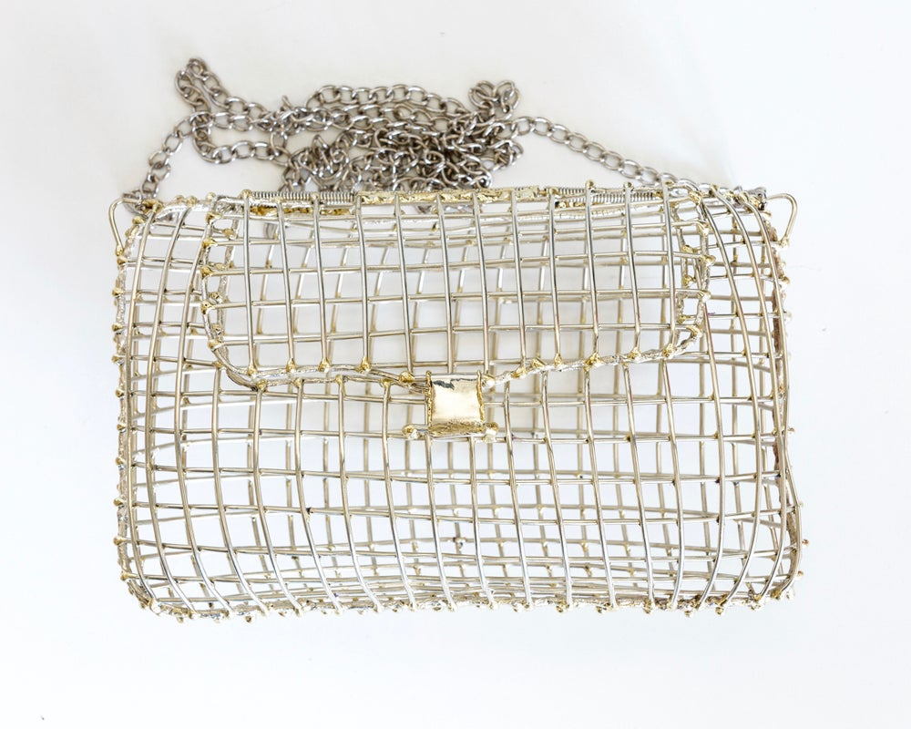 Image of Large Brass Cage Clutch