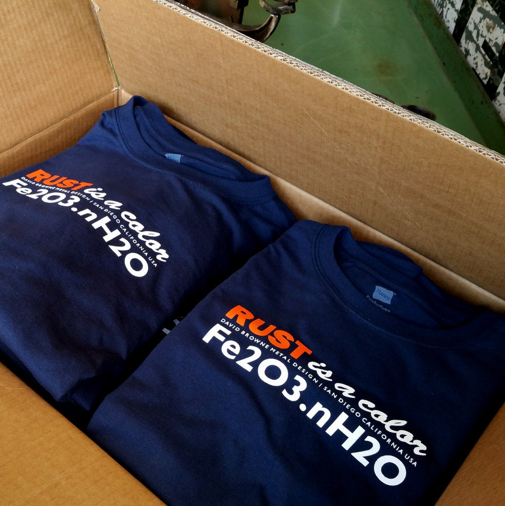 Image of NEW*RUST IS A COLOR* Navy tees