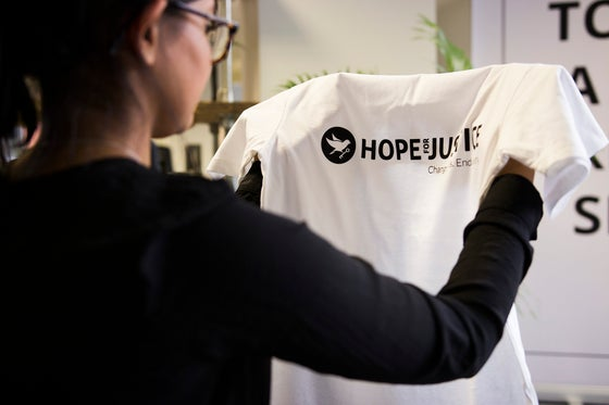 Image of Hope for Justice Fundraising T-shirt