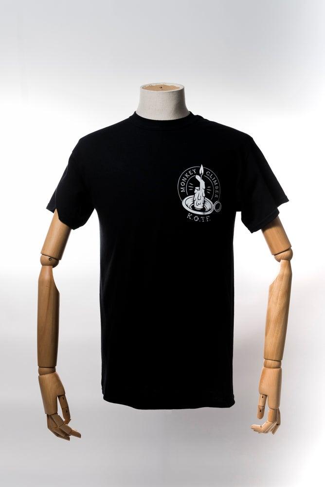 Image of Monkey Climber Keepers of the Faith shirt I Black - Burgundy