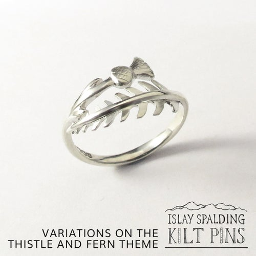 Image of Thistle and Fern Kilt Pin