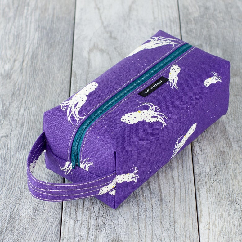 Image of Charley Harper Octo Pool Purple box bag