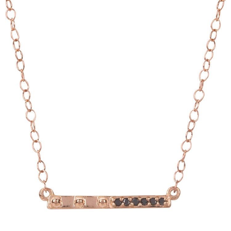 Image of Galatea Black Bar Necklace