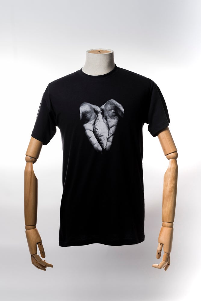 Image of Monkey Climber Hand of Hope shirt I Used Black