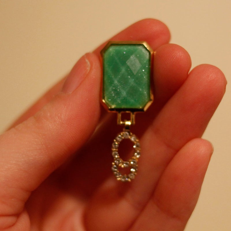 Image of Mint Diamond Dangles (sizes 00g-9/16)