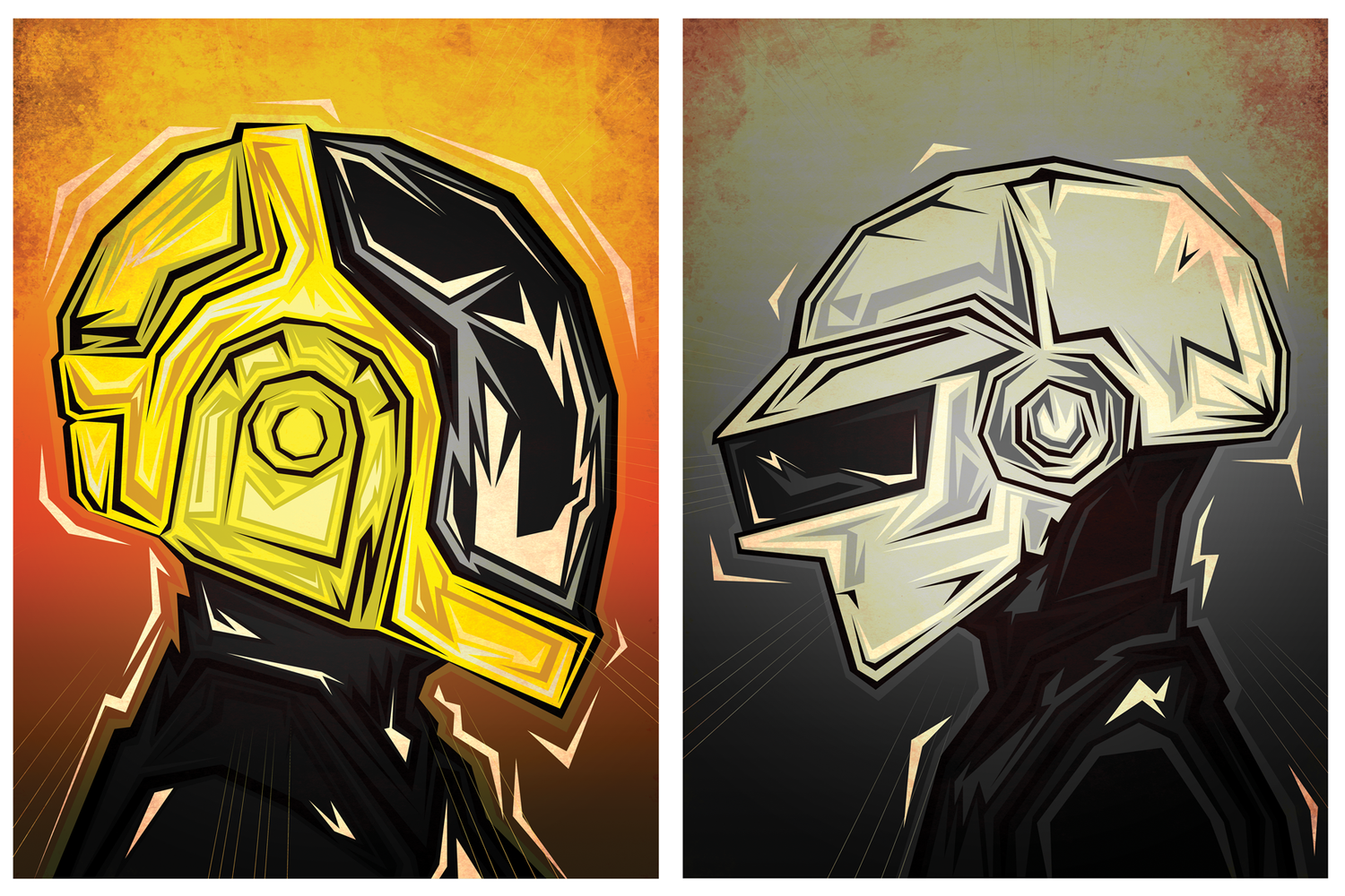 Image of Daft Punk 2 prints.