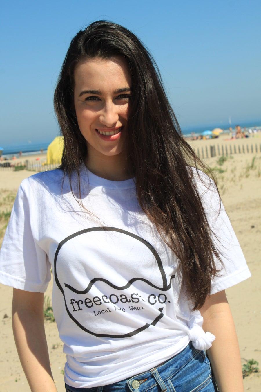 Image of Signature Wave White T-shirt Unisex