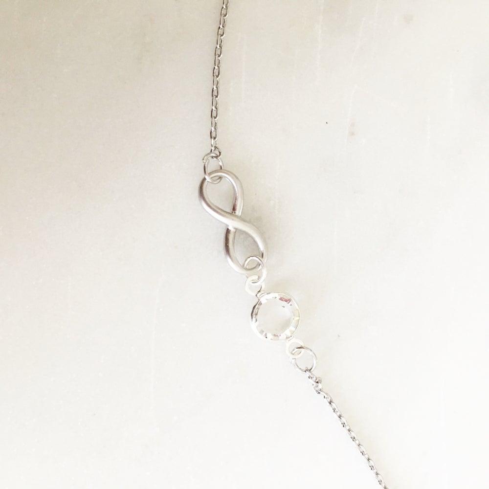 Image of Birthstone infinity bracelet