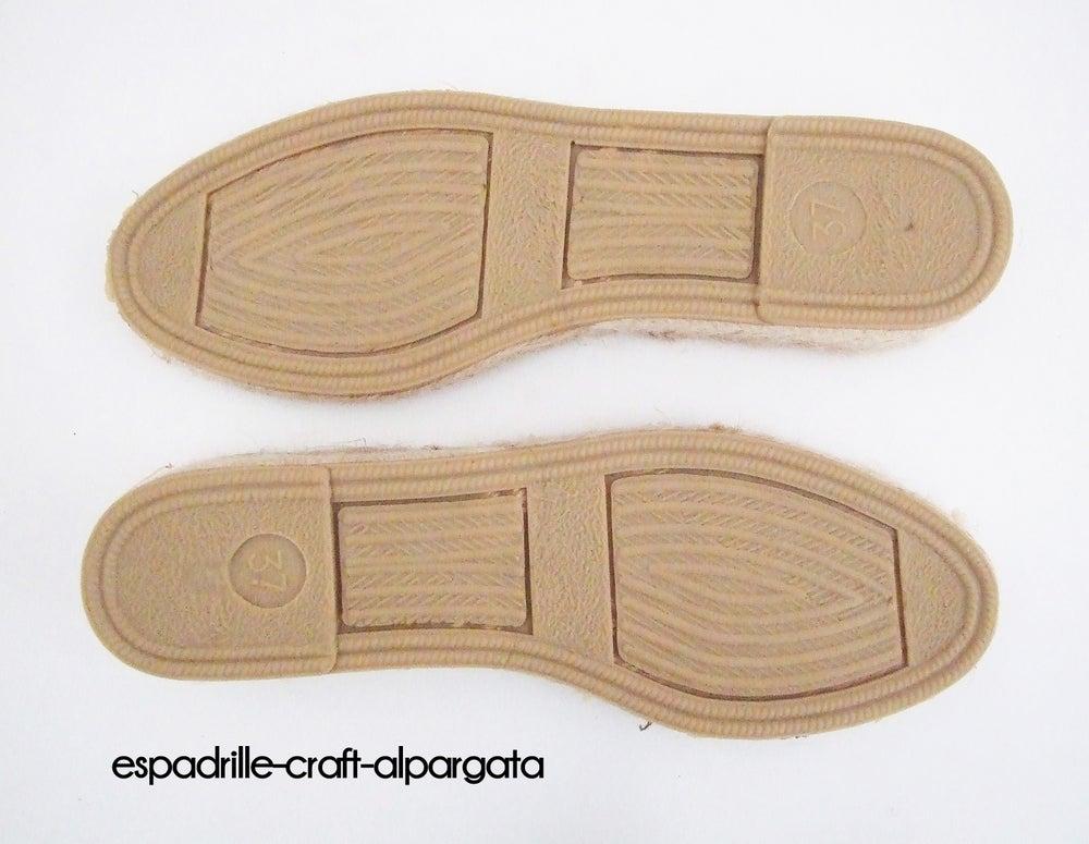 Image of espadrille soles - M2 - 3cm - EU sizes 39 to 42