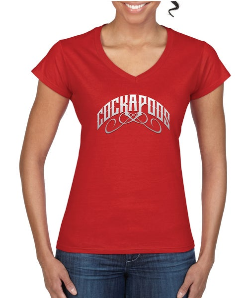 Image of #12 'Rock Band' Women's Fitted T-Shirt