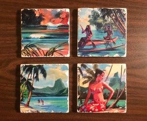 """Image of """"Island Life"""" Coaster Set"""