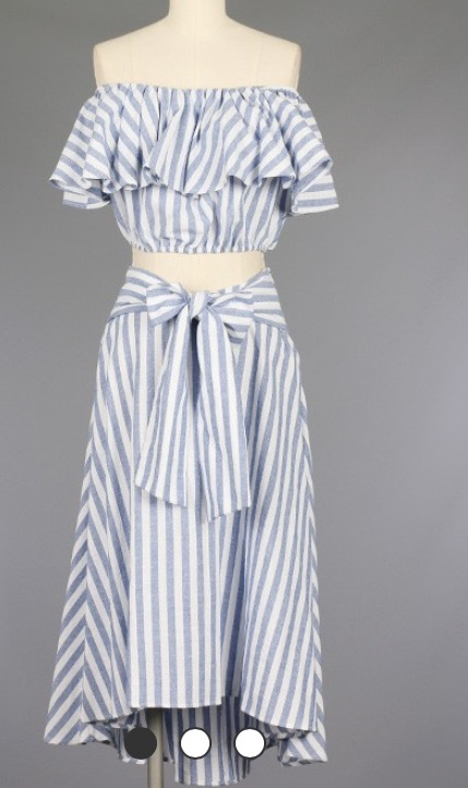 Image of Striped 2-Piece
