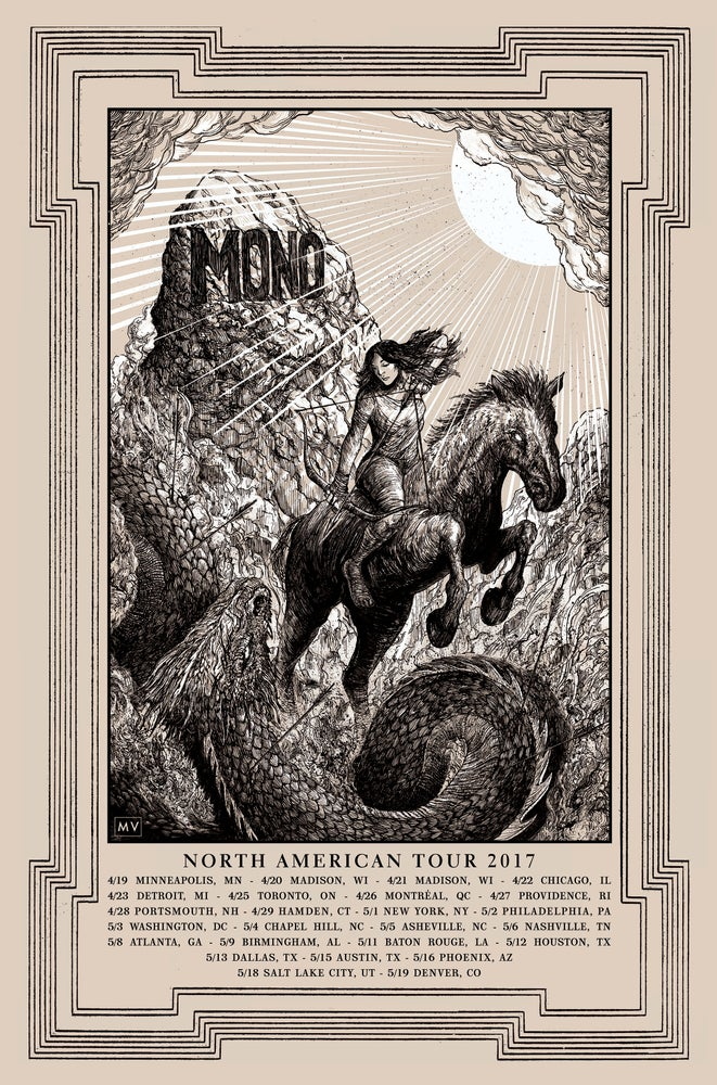 Image of MONO North American Tour Poster 2017