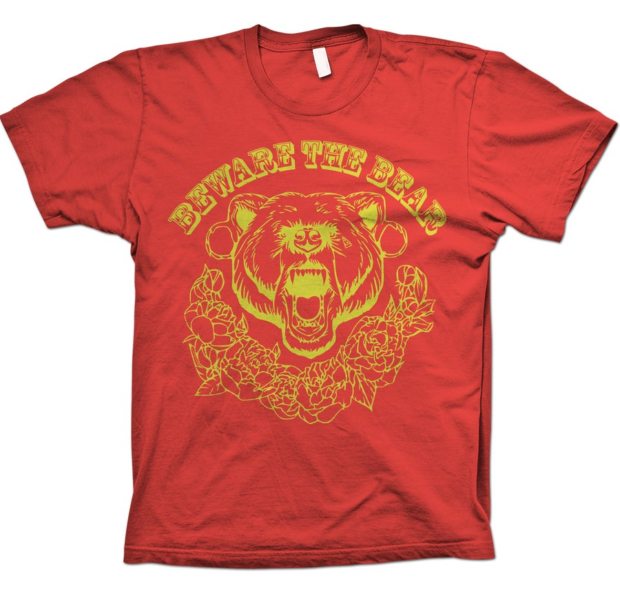 Image of Beware The Bear - Band Tee (Red)