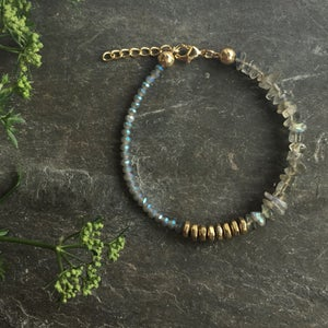 Image of Wish Bracelet - Labradorite + Glass