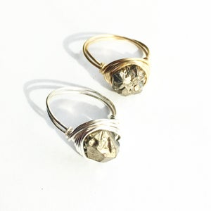 Image of Midas Ring - plated Quartz