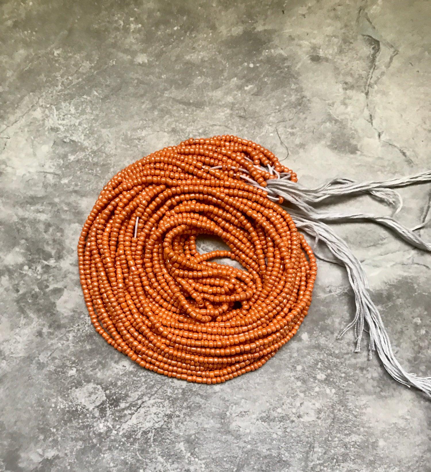Image of Orange tie waistbead