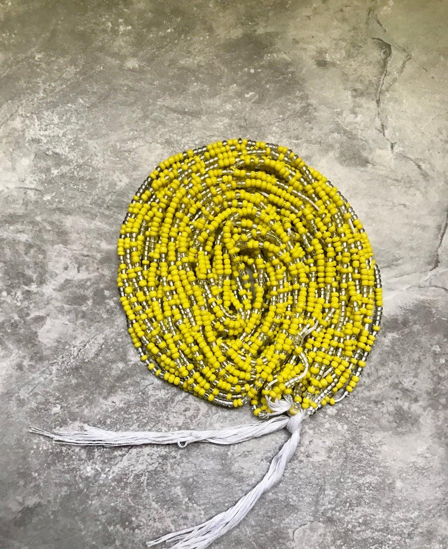 Image of Yellow tie waistbead