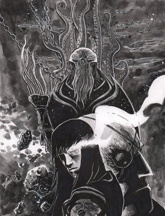 Image of BLACKHOLERS Print #1A Original art