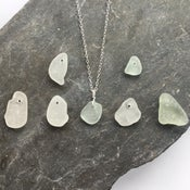 Image of Sea Glass Necklace - genuine Cornish sea glass on Sterling silver