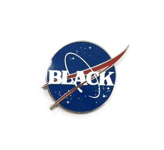 Image of Black Space Enamel Pin