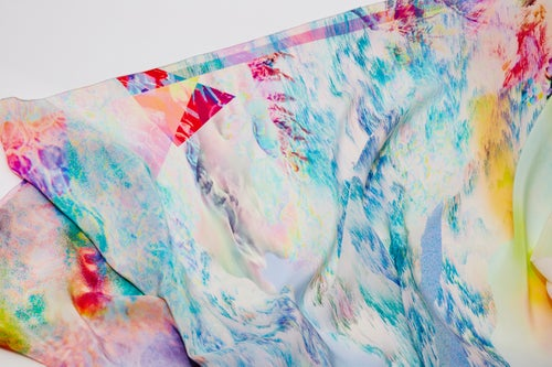 "Image of ""ENDLESS SUMMER3 / SILK SCARF 120x120cm"