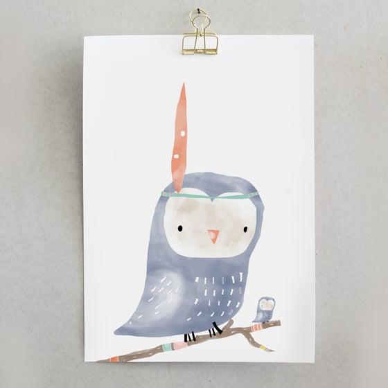 Image of ART PRINT OWL X CANTÊ LISBOA