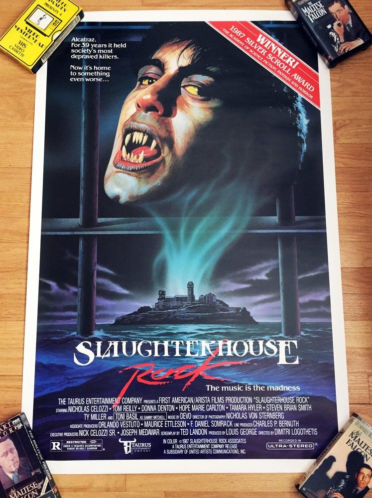 Image of 1987 SLAUGHTERHOUSE ROCK Original U.S. One Sheet Movie Poster