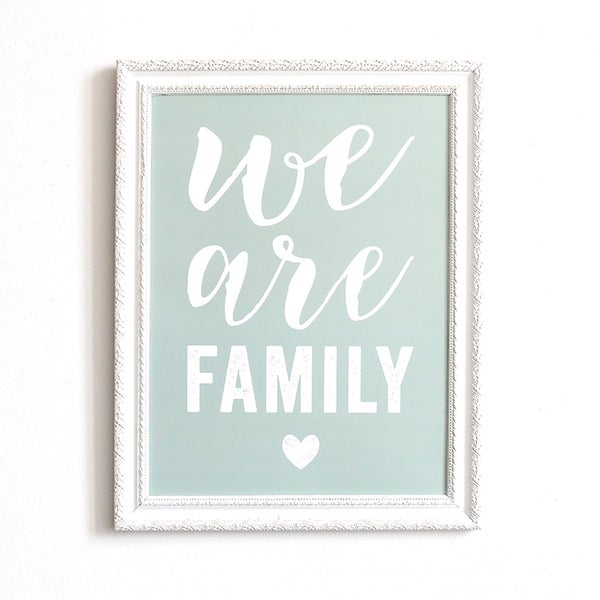Image of AFFICHE 30X40 CM / WE ARE FAMILY / SMOKE GREEN