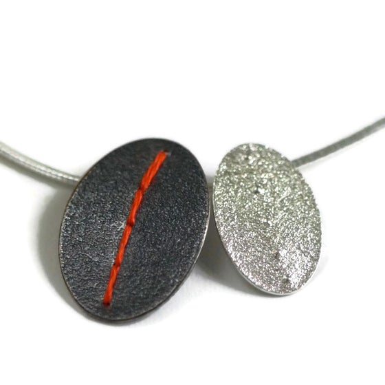 Image of Sewn Up Mixed Double Necklace