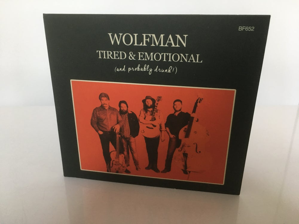"Image of Wolfman CD ""Tired & Emotional"" 2017 + Free Stickers!"