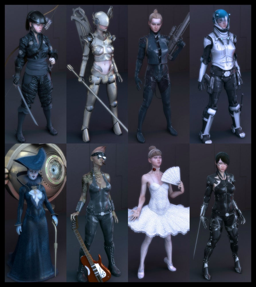Image of Free Download 3d Maya Rigged Characters