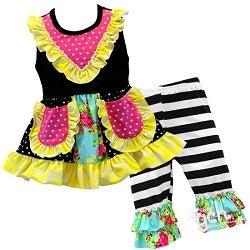 Image of Ellie Designer Capri Pant Set, baby, toddler, girl, photos, summer, sister set
