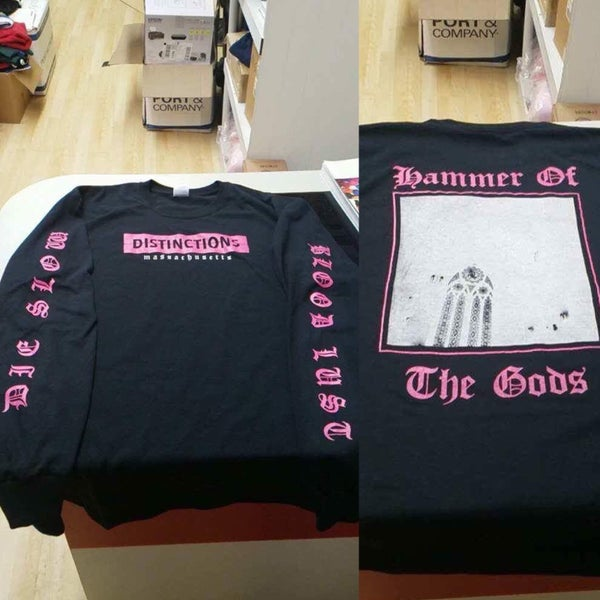 Image of Hammer of the Gods LS pink/black