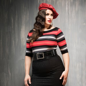 Image of INGRID STRIPED TOP